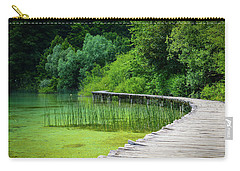 Wooden Path In The Forest Carry-all Pouch