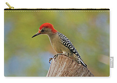 Carry-all Pouch featuring the digital art 1- Woodpecker by Joseph Keane