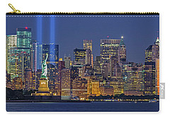 Carry-all Pouch featuring the photograph World Trade Center Wtc Tribute In Light Memorial II by Susan Candelario