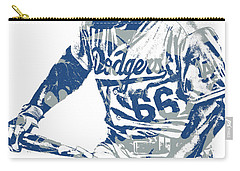 Yasiel Puig Los Angeles Dodgers Pixel Art 10 Carry-all Pouch