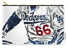 Yasiel Puig Los Angeles Dodgers Pixel Art Carry-all Pouch
