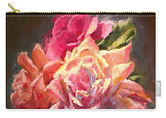 Yellow And Pink Roses Carry-all Pouch