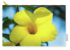 Yellow Flower Carry-all Pouch by James Gay