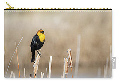 Carry-all Pouch featuring the photograph Yellow Headed Blackbird by Michael Chatt