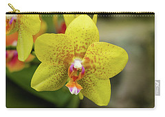 Carry-all Pouch featuring the photograph Yellow Orchid by Cristina Stefan