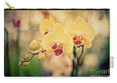 Carry-all Pouch featuring the photograph Yellow Orchids by Ana V Ramirez