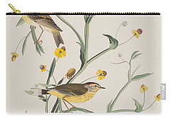 Yellow Red-poll Warbler Carry-all Pouch by John James Audubon