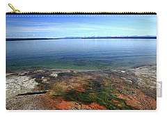 Carry-all Pouch featuring the photograph Yellowstone Lake Colors by Frank Romeo