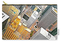 Yesterday's #birdseyeview Of #downtown Carry-all Pouch by Austin Tuxedo Cat
