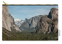 Carry-all Pouch featuring the photograph Yosemite Valley Afternoon by Sandra Bronstein