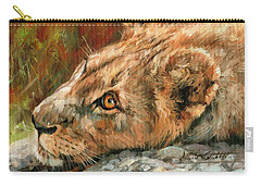 Young Lion Carry-all Pouch by David Stribbling