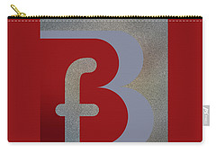 Your Name - B F Or F B Monogram Carry-all Pouch