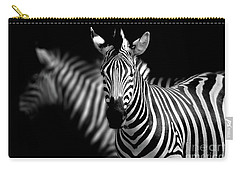 Carry-all Pouch featuring the photograph Zebra by Charuhas Images
