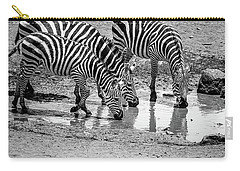 Zebras At The Watering Hole Carry-all Pouch