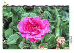 Carry-all Pouch featuring the pyrography Flower by Yury Bashkin