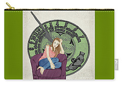 Carry-all Pouch featuring the digital art 10 Months by Megan Dirsa-DuBois