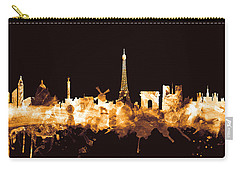 Paris France Skyline Carry-all Pouch by Michael Tompsett