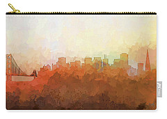 Carry-all Pouch featuring the digital art San Francisco California Skyline by Marlene Watson