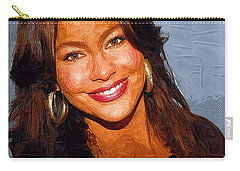 Sofia Vergara Art Print Carry-all Pouch by Best Actors