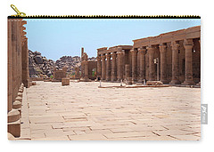 Carry-all Pouch featuring the photograph Temple Of Isis by Silvia Bruno