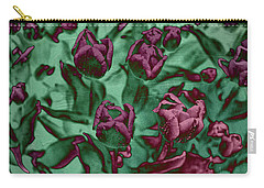 Texture Flowers Carry-all Pouch by Andre Faubert