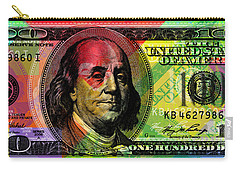 Benjamin Franklin - Full Size $100 Bank Note Carry-all Pouch