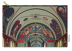 Carry-all Pouch featuring the photograph 100905 Star Of The Sea Painted Church Hi by Ed Cooper Photography