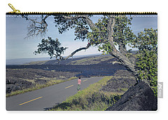 Carry-all Pouch featuring the photograph 100924 Lava Covered Road Hi by Ed Cooper Photography