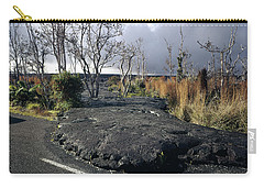 Carry-all Pouch featuring the photograph 100925 Lava Flow On Road Hi by Ed Cooper Photography