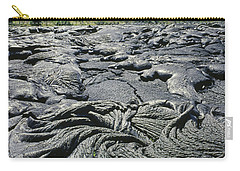 Carry-all Pouch featuring the photograph 100964 Lava Flow Patterns Hi by Ed Cooper Photography