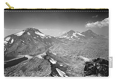 Carry-all Pouch featuring the photograph 105723 Sisters From Broken Top Or by Ed Cooper Photography