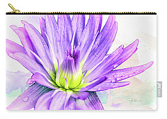 10889 Purple Lily Carry-all Pouch
