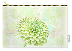10891 Green Chrysanthemum Carry-all Pouch
