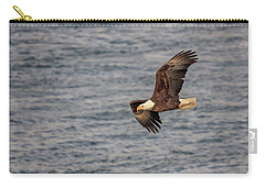 Carry-all Pouch featuring the photograph Bald Eagle by Peter Lakomy