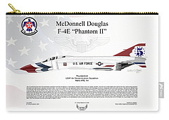 Mcdonnell Douglas F-4e Phantom II Thunderbird Carry-all Pouch