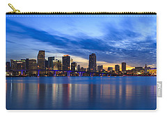 Miami Downtown Skyline Carry-all Pouch by Raul Rodriguez