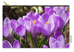 Purple Crocuses Carry-all Pouch by Irina Afonskaya