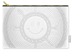 110-happy Face 0115 Wampum White Carry-all Pouch