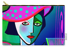 1150 - Woman With A  Pocodot Hat ... Carry-all Pouch