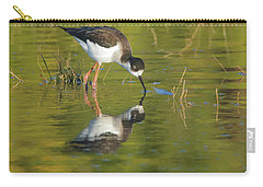 Carry-all Pouch featuring the photograph Black-necked Stilt by Tam Ryan