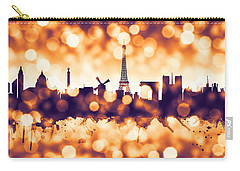 Paris France Skyline Carry-all Pouch by Michael Tompsett