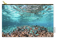 Underwater Coral Reef And Fish In Indian Ocean, Maldives. Carry-all Pouch