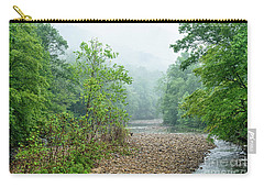 Carry-all Pouch featuring the photograph Williams River Summer Mist by Thomas R Fletcher