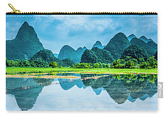 Karst Rural Scenery In Raining Carry-all Pouch