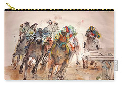 Carry-all Pouch featuring the painting American  Pharaoh  Album  by Debbi Saccomanno Chan