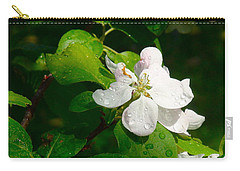 Carry-all Pouch featuring the painting Apple Blossoms by Johanna Bruwer