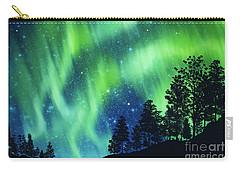 Carry-all Pouch featuring the photograph Aurora Borealis by Setsiri Silapasuwanchai