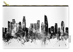 Los Angeles California Skyline Carry-all Pouch by Michael Tompsett