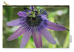 Purple Passiflora Carry-all Pouch by Elvira Ladocki