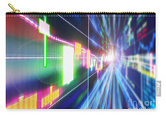 Carry-all Pouch featuring the photograph Stock Market Concept by Setsiri Silapasuwanchai
